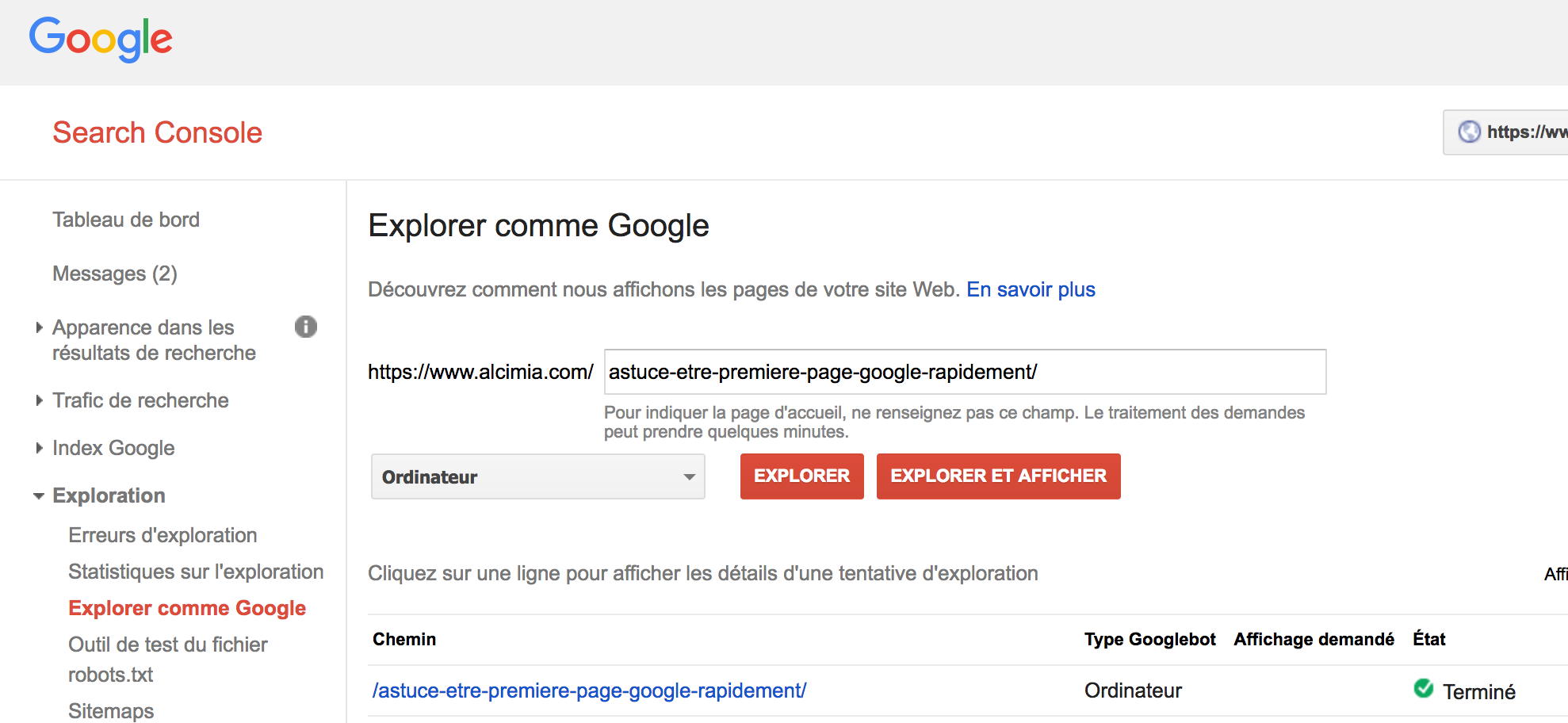 Astuce comment tre en premi re page google rapidement for Cle chambery